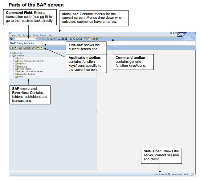 Parts-of-the-SAP-screen