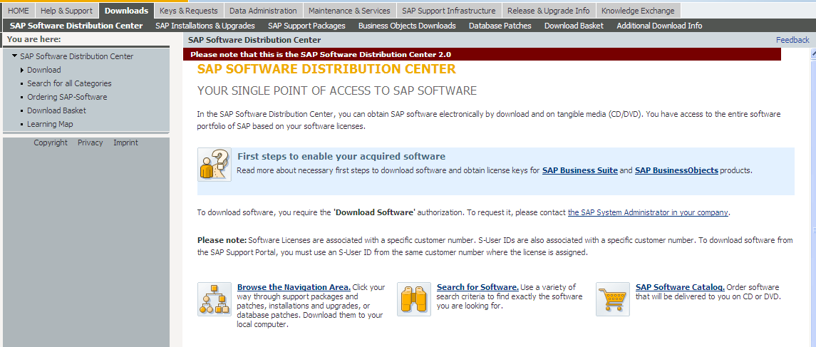 where to download sap software