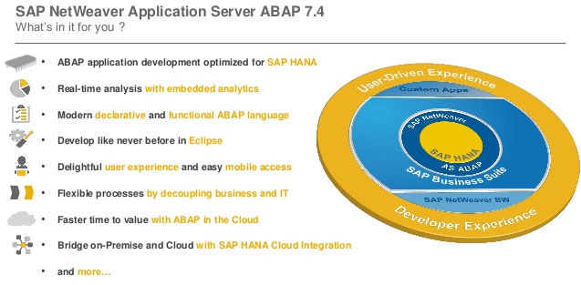 sap hana and sap netweaver as abap deployed on one server