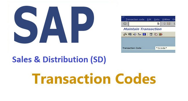 SD Transaction Codes (Sales and Distribution)