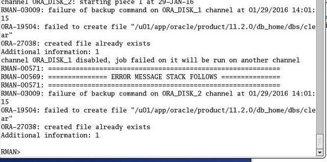 backup controlfile