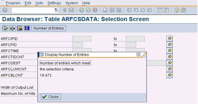 Large number of entries in tRFC and qRFC tables in SAP BASIS