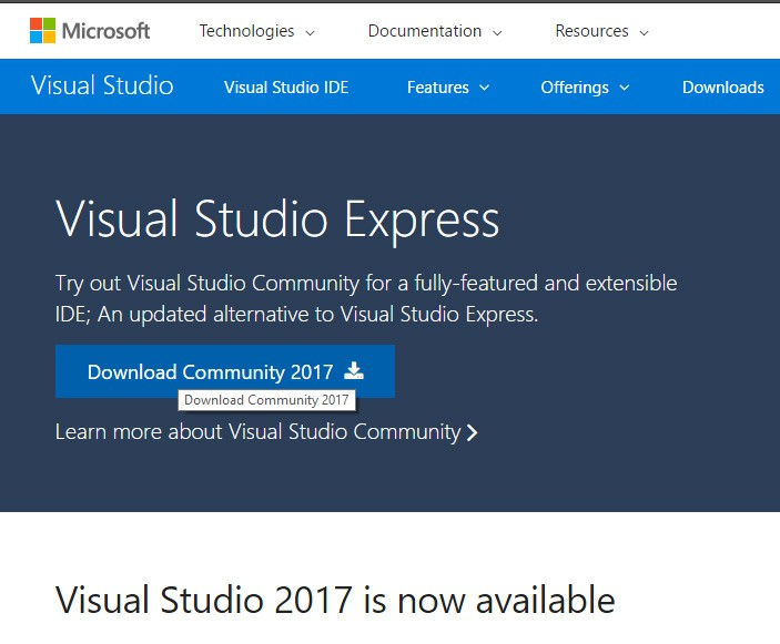 Visual Studio Community Installation and First Project in SQL