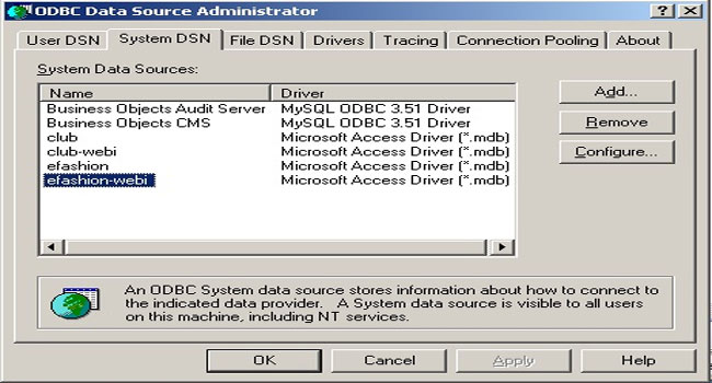 DOWNLOAD DRIVERS: BUSINESS OBJECTS ODBC