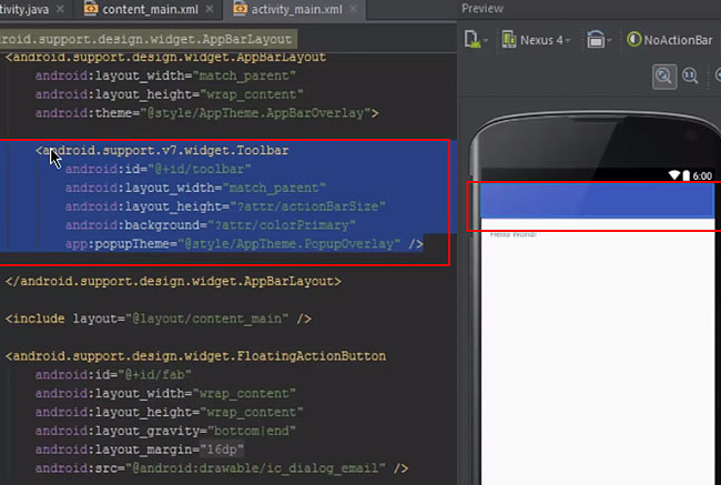 Create Multiple Action Bars in Android