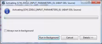 Create ABAP CDS Views with Input Parameters on HANA