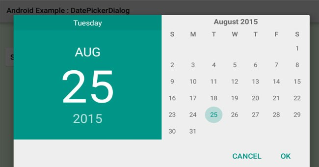 Datepicker def