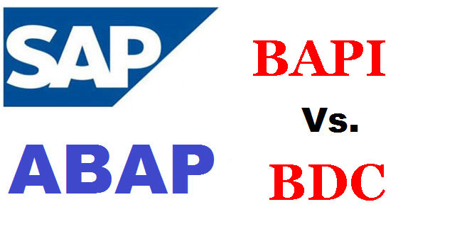 Difference between BAPI and BDC in SAP ABAP