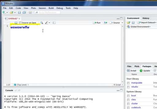 Run basic code in Rstudio in R Programming Language