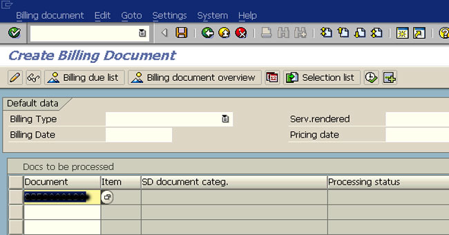 Difference Between INVOICE And BILLING In SAP SD - Create billing invoice