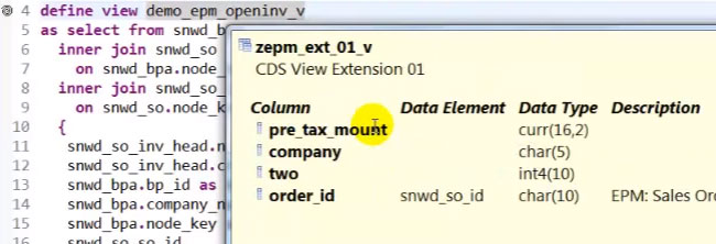 Enhancing ABAP CDS View in a modification-free Manner on HANA