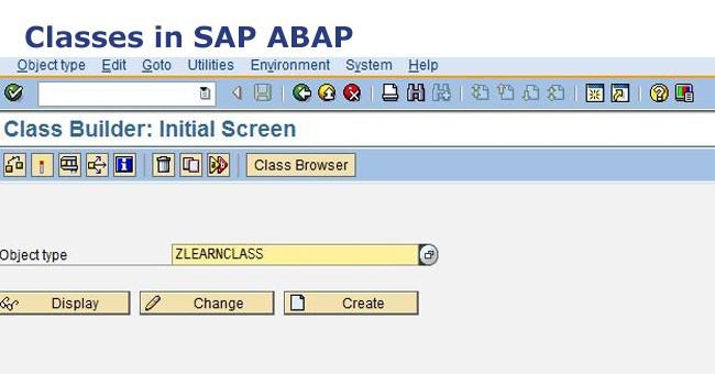 classes in sap abap