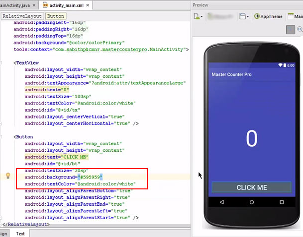 Click Counter Android Application