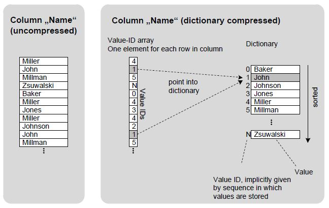 compression types exist in sap hana