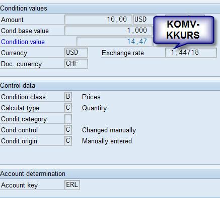 Determine Different Exchange Rates in Billing Documents