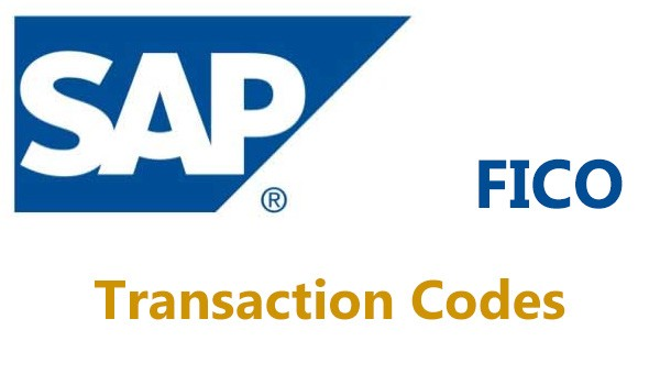 SAP FICO TCodes Only End User TCodes