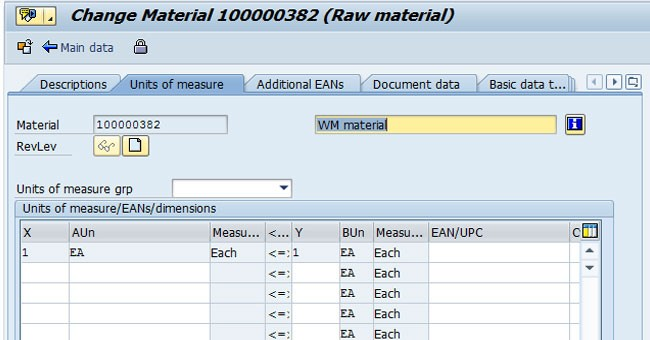 Convert base Unit of Measure to Alternative Unit of Measure in SAP MM