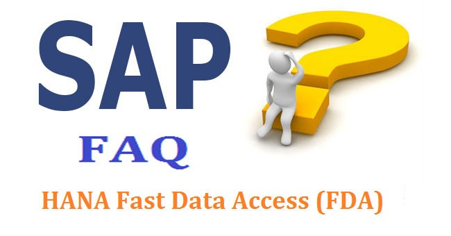 sap hana fast data access  fda  interview questions and answer