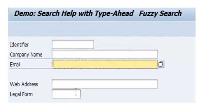 Using Search Help with Type-Ahead and Full Text Fuzzy Search