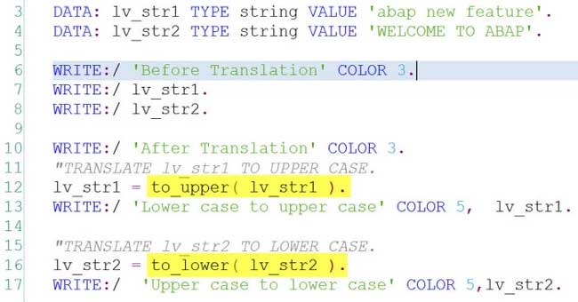 Convert Abap Code To Upper Or Lower Case