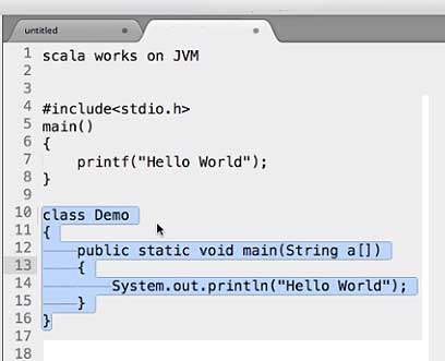 Getting Started with Scala Code Example Hello World