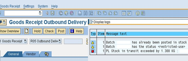 How to Fix Quantity on Stock in Transit? in SAP MM