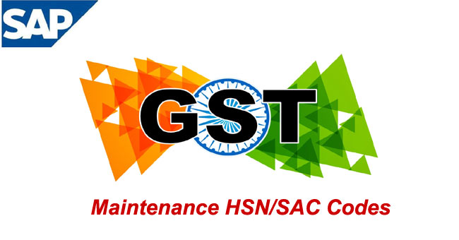 maintenance of hsn  sac codes for gst india
