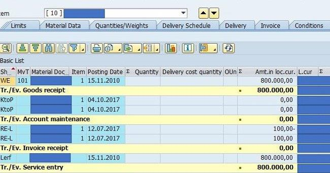 How does MR11/MR11SHOW update PO history in SAP MM
