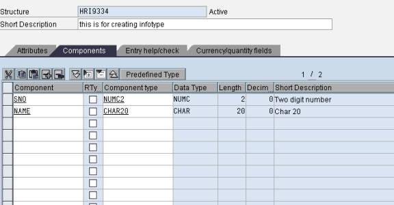 how to create om infotype  in sap abap