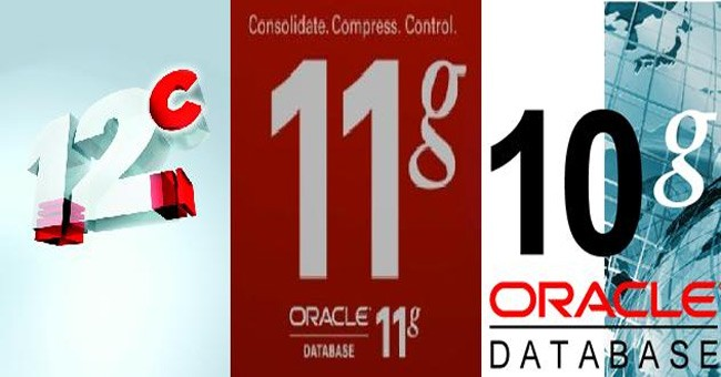 difference between oracle 10g and 11g and 12c database