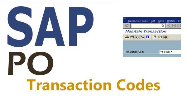 List Of Purchase Order Po Tcode In Sap