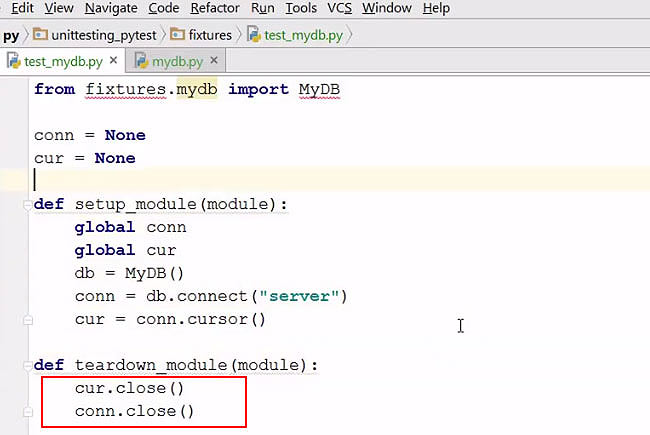 Pytest Fixtures Example in Python