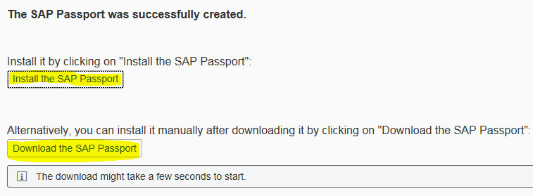SAP Passport Certificate Installation Via Browser
