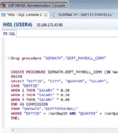 How to write procedure in sql