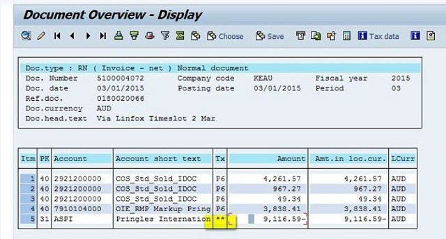while doing vendor invoice via fb01 tax code is populating