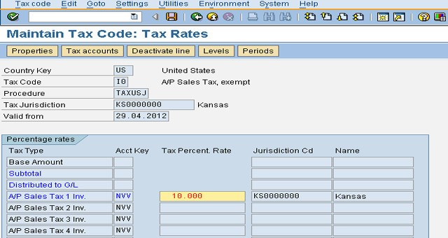 Create New Tax Code In Sap