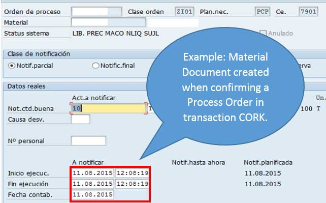 Time zones in Material Documents in SAP MM