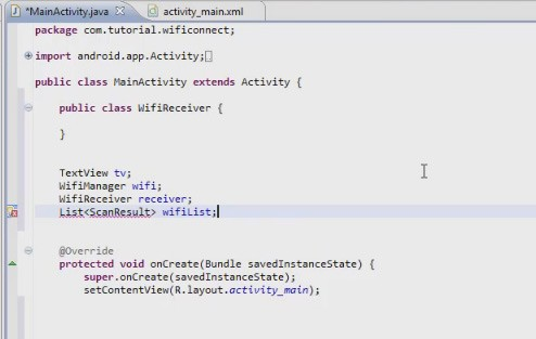 WiFi Application Example in Android