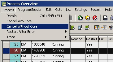 SM50 tcode Kill Work Process in SAP in SAP BASIS