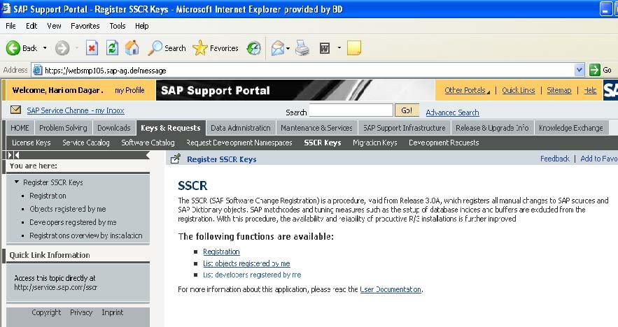 sap support portal in sap basis